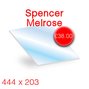 Spencer Melrose Stove Glass - 444mm x 203mm