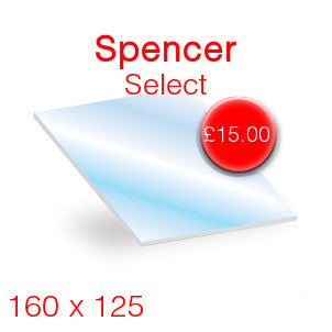 Spencer Select Stove Glass - 160mm x 125mm