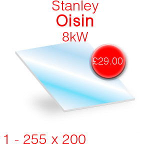 Stanley Oisin 8kW Stove Glass - 255mm x 200mm