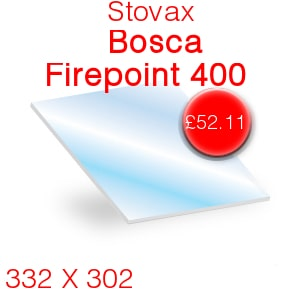 Stovax Bosca Firepoint 400 Stove Glass - 332mm x 302mm