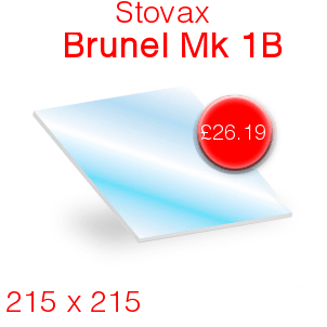 Stovax Brunel Mk 1B Stove Glass - 215mm x 215mm