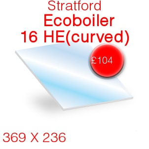 Stratford Ecoboiler 16 HE (curved) Stove Glass - 369mm x 236mm