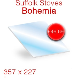 Suffolk Stoves (Pevex) Bohemia Stove Glass - 357mm x 227mm
