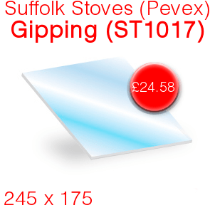 Suffolk Stoves (Pevex) Gipping (ST1017) Stove Glass - 245mm x 175mm