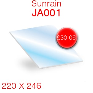 Sunrain JA001 Stove Glass - 220mm x 246mm
