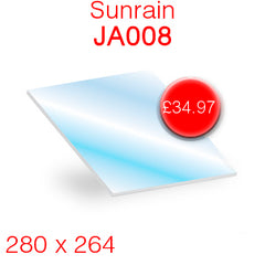 Sunrain JA008 Stove Glass - 280mm x 264mm