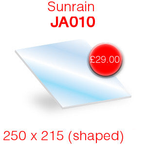 Sunrain JA010 Stove Glass - 250mm x 215mm (shaped)
