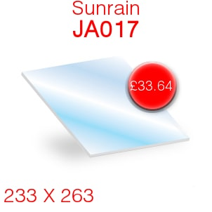 Sunrain JA017 Stove Glass - 233mm x 263mm