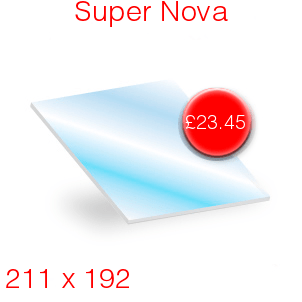 Super Nova Stove Glass - 211mm x 192mm