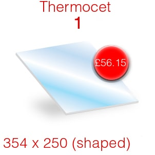 Thermocet 1 Stove Glass - 354mm x 245mm (shaped)