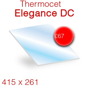 Thermocet Elegance DC+ Stove Glass - 415mm x 261mm (shaped)