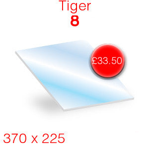 Tiger 8 Stove Glass - 370mm x 225mm
