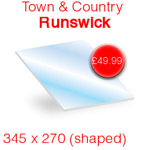 Town & Country Runswick Inset Stove Glass - 345mm x 270mm (shaped)