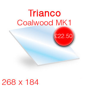Trianco Coalwood MK1 Stove Glass - 268mm x 184mm