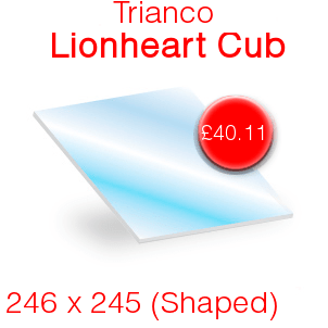 Trianco Lionheart Cub Stove Glass - 246mm x 245mm (shaped)