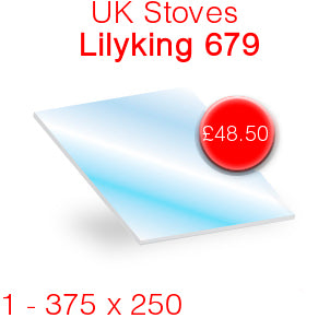 UK Stoves Lilyking 679 Stove Glass - 375mm x 250mm