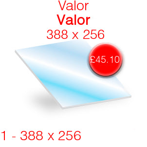 Valor Valor Stove Glass - 388mm x 256mm