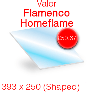 Valor Flamenco Homeflame Stove Glass - 393mm x 250mm