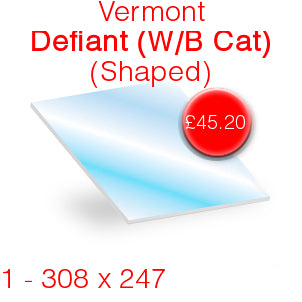 Vermont Defiant (W/B Cat) Stove Glass - 308mm x 247mm (shaped)