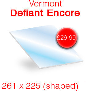 Vermont Defiant / Encore Stove Glass - 261mm x 225mm (shaped)