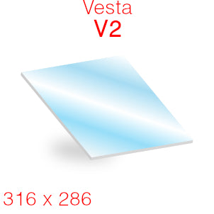 Vesta V2 Stove Glass - 316mm x 286mm