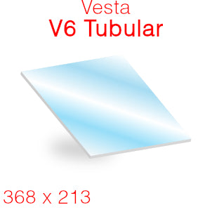 Vesta V6 Tubular Stove Glass - 368mm x 213mm