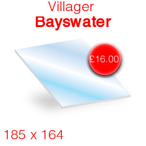 Villager Bayswater Stove Glass - 185mm x 164mm