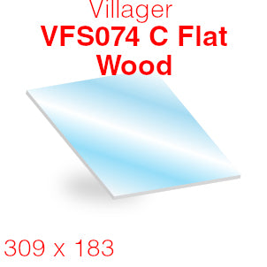 Villager VFS074 C Flat Woodburning Stove Glass (Series 2 Single Door) - 309mm x 183mm (Curved)