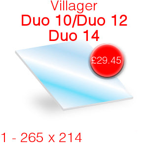 Villager Duo 10 / Duo 12 / Duo 14 Stove Glass - 265mm x 214mm