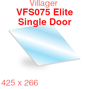 Villager VFS075 Elite Single Door Multi Fuel Stove Glass - 425mm x 266mm (Curved)