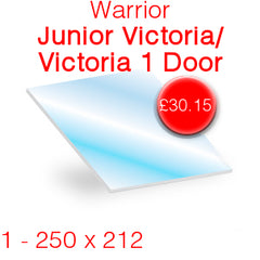 Warrior Junior Victoria / Victoria 1 Door Stove Glass