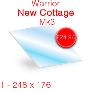 Warrior New Cottager Mk3 Stove Glass - 248mm x 176mm
