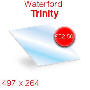 Waterford Trinity Stove Glass - 497mm x 264mm