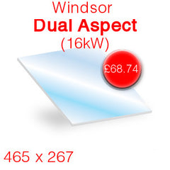 Windsor Dual Aspect 16kW replacement stove glass