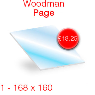 Woodman Page Stove Glass - 168mm x 160mm