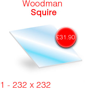 Woodman Squire Stove Glass - 232mm x 232mm
