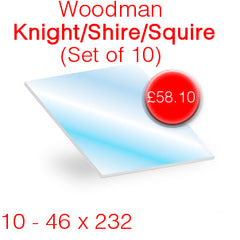 Woodman Knight/Shire/Squire (Set of 10) Stove Glass