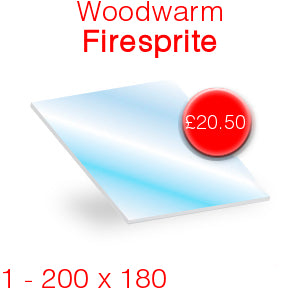 Woodwarm Firesprite Stove Glass - 200mm x 180mm