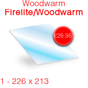 Woodwarm Firelite / Woodwarm Stove Glass - 226mm x 213mm