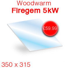 Woodwarm Firegem 5kW replacement stove glass