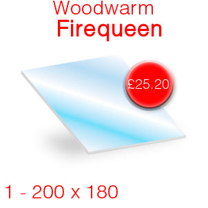 Woodwarm Firequeen Stove Glass - 200mm x 180mm