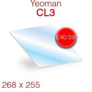 Yeoman CL3 Stove Glass - 268mm x 255mm