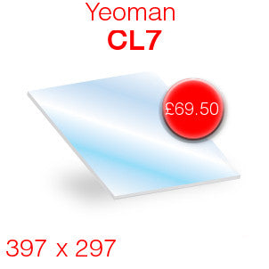 Yeoman CL7 Stove Glass - 397mm x 297mm