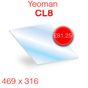 Yeoman CL8 Stove Glass - 469mm x 316mm