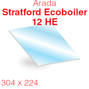 Arada Stratford Ecoboiler 12 HE Stove Glass - 304mm x 224mm (curved)