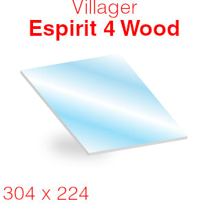 Villager Esprit 4 Wood Stove Glass - 304mm x 224mm (curved)