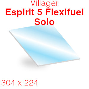 Villager Esprit 5 Flexifuel Solo Stove Glass - 304mm x 224mm (curved)