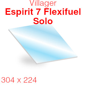 Villager Esprit 7 Flexifuel Solo Stove Glass - 304mm x 224mm (curved)