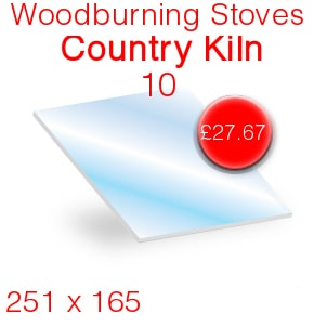 Woodburning Stoves Country Kiln 10 Stove Glass - 251mm x 165mm
