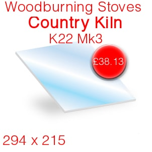 Woodburning Stoves Country Kiln K22 Mk3 Stove Glass - 294mm x 215mm